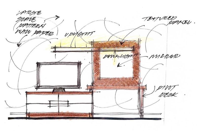 Sketch for Room TV