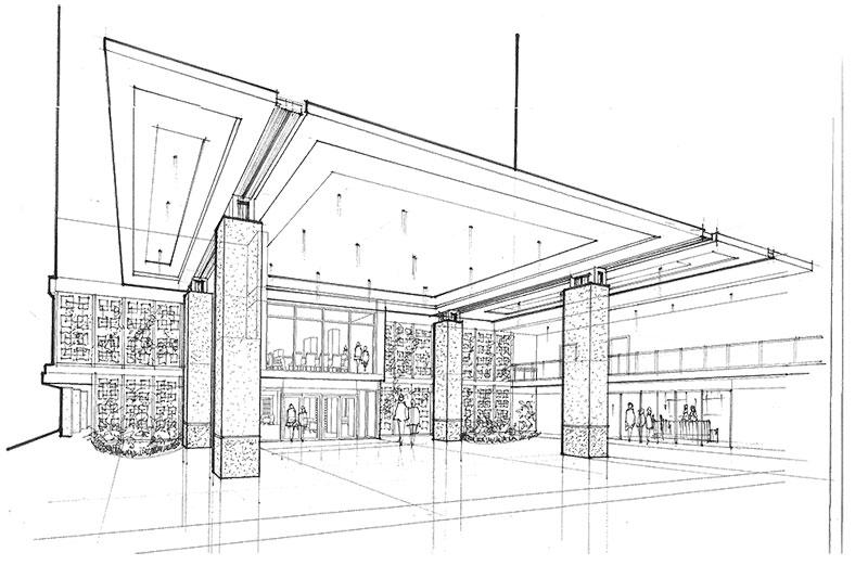 Concept for Porte Cochere